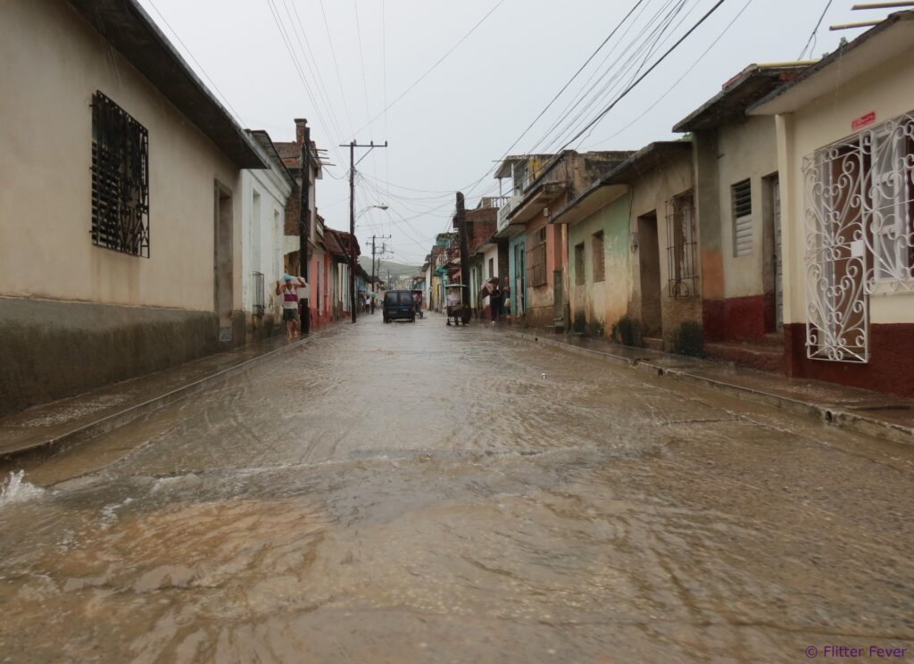 Trinidad rain streets full of water