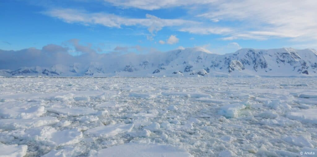 Antarctica ice and snow water