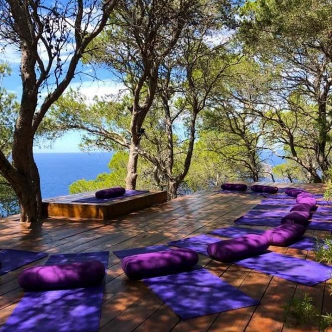 Morning yoga outside @ Can Shui Luxury Retreat Villa Ibiza (Morna Retreat)