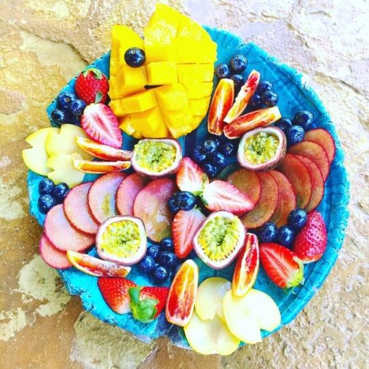 Gorgeous fruit bowl @ Morna Retreat