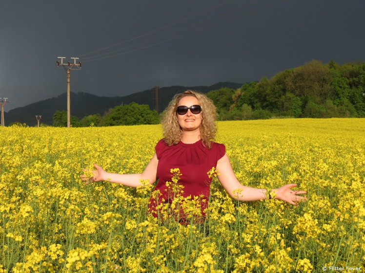 Me @ bright-yellow rapeseed flower field in the east of Poland