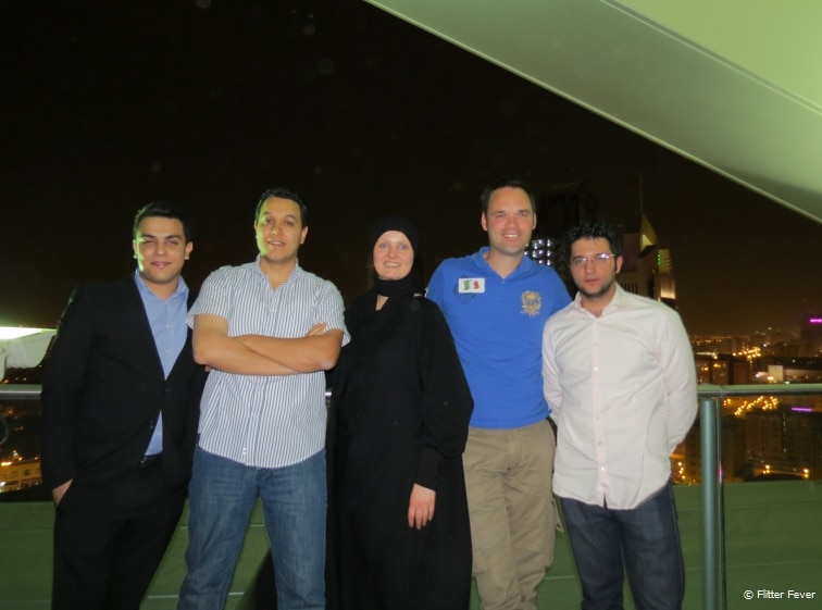 Hanging out together at Al Faisaliah Tower