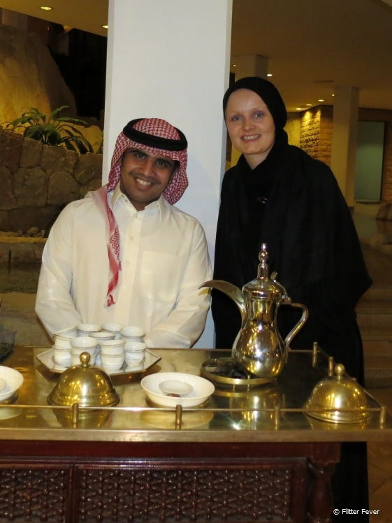 Making new Arab friends over tea