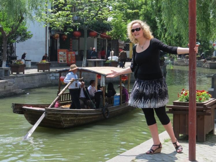 Zhujiajiao ancient watertown near Shanghai in China