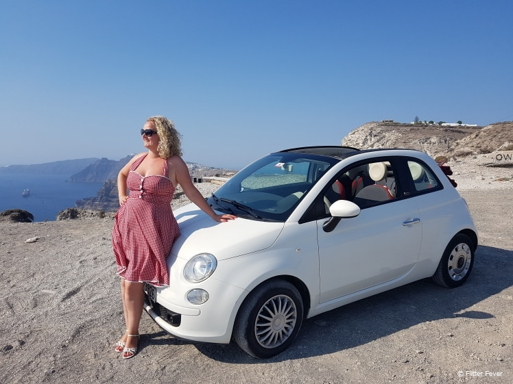 Loved driving this Fiat 500C on Santorini
