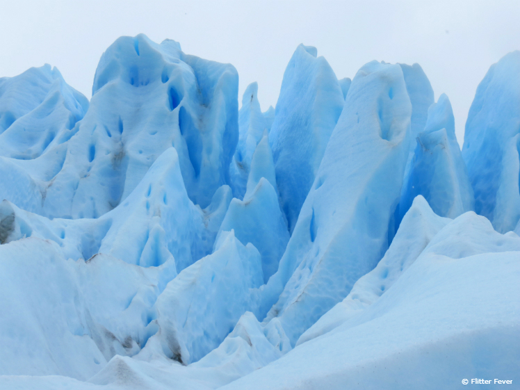 Blue ice formations Perito Moreno