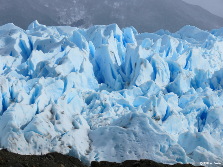 This blue glacier ice is so impressive