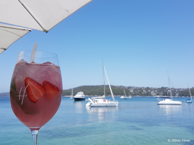 Blushed cocktail at Hugo's (Manly Wharf)