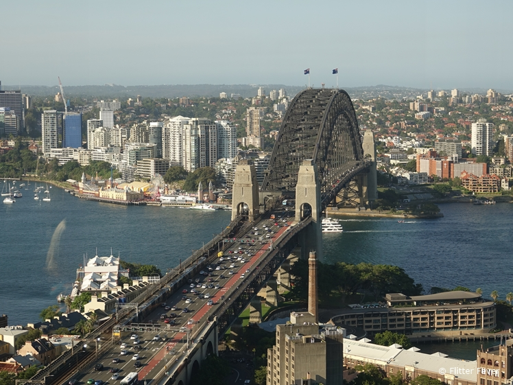 Sydney Harbour Bridge seen from Shangri-La