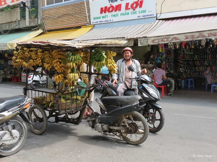 Scooter with bananas Vietnam