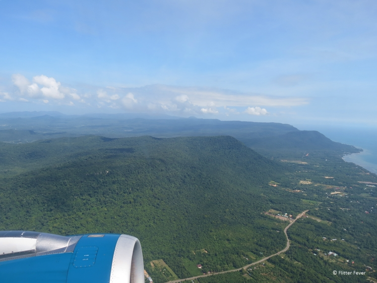 Beautiful landscape of Vietnam seen from the air