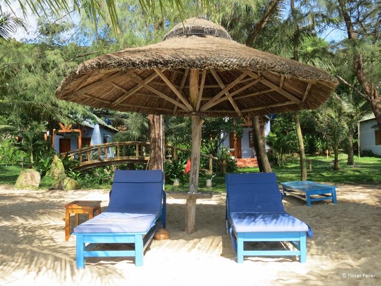 Phu Quoc beach sun beds
