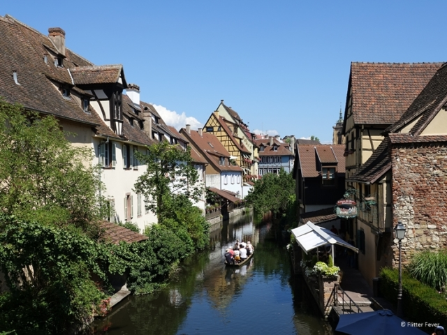 Boat ride through the canal of Little Venice, Colmar, Alsace, France