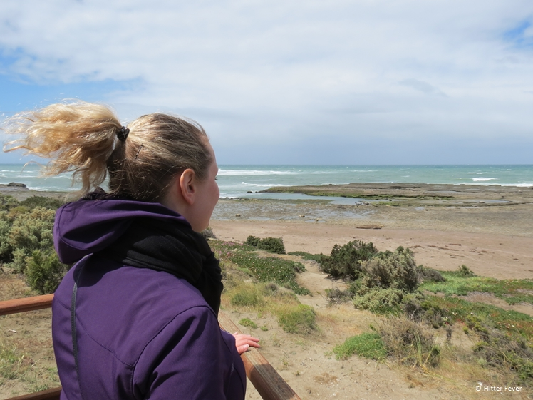 Admiring the beach at Peninsula Valdes