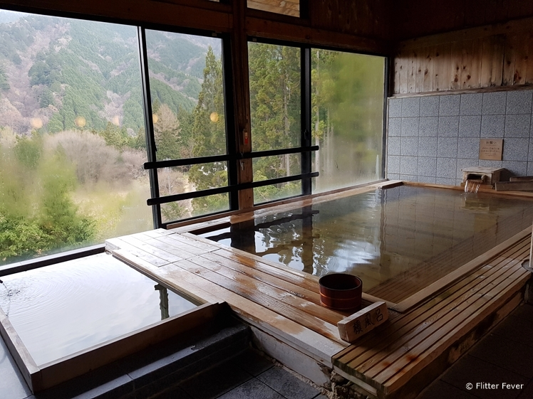 Indoor onsen bath at Hotel Fuki no Mori Japan