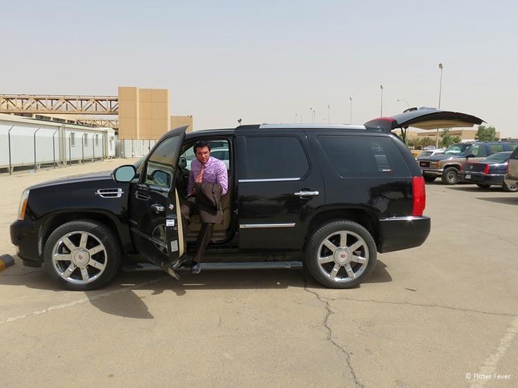 Our big fat black SUV Riyadh airport