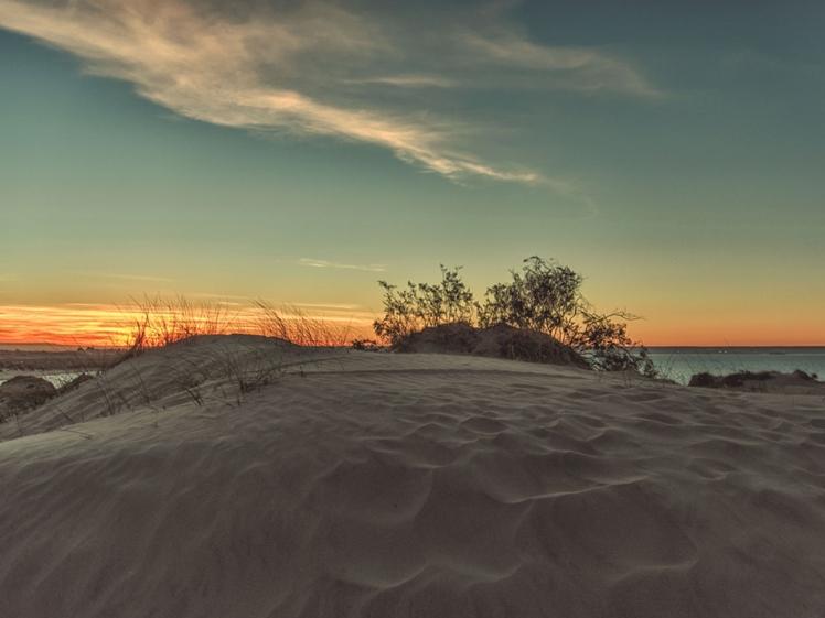 Sand dunes at Playa Parana, Puerto Madryn, Argentina