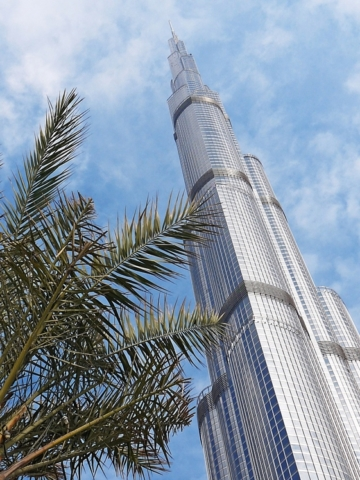 Burj Khalifa palm tree Dubai