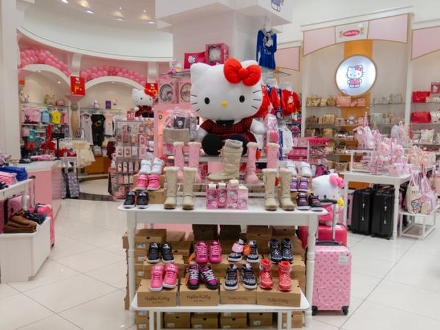 Hello Kitty shop in the Dubai Mall