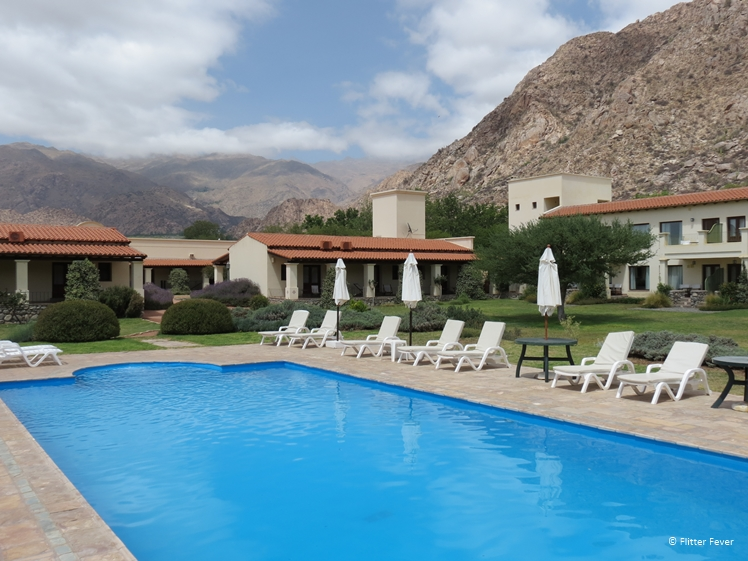 Pool with a view at Vinas de Cafayate Wine Resort