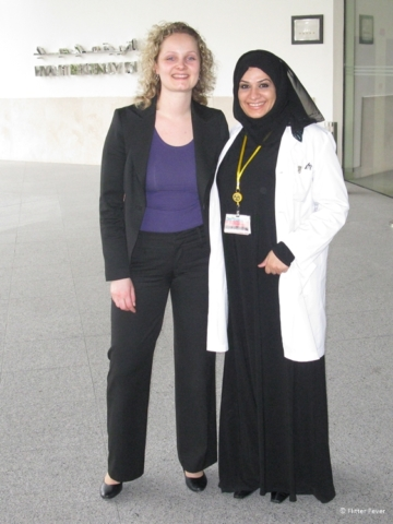 Sarah and I at the Dubai Medical Center back in 2011
