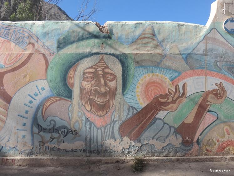 Street art in Purmamarca, Jujuy Province, Argentina