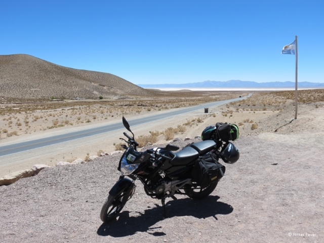 The Salinas Grandes is popular with motorcyclists