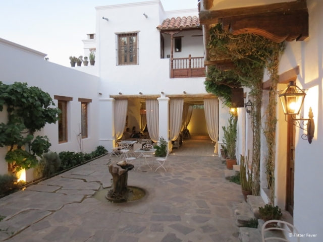 The stylish Boutique Hotel El Cortijo in Cachi is located inside a beautiful colonial house with courtyard
