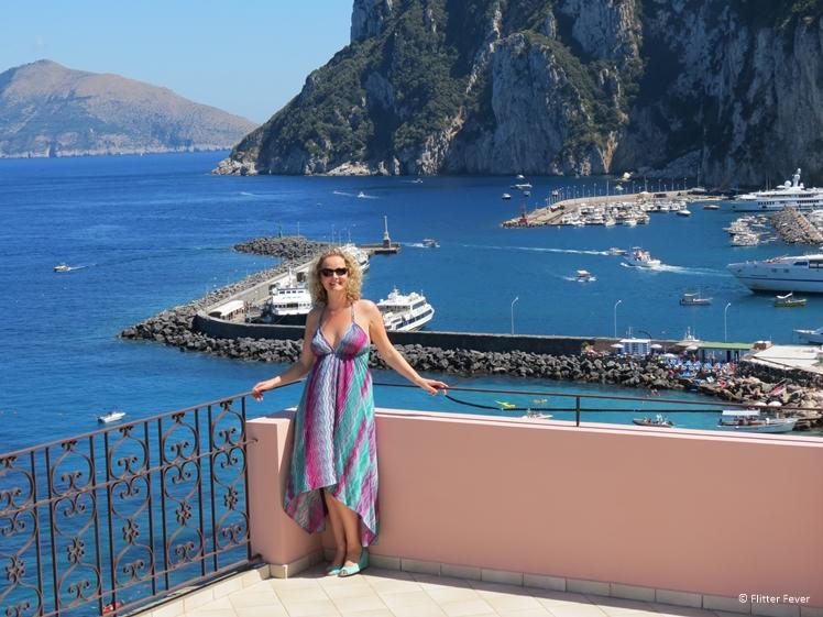 Capri island near Naples Italy