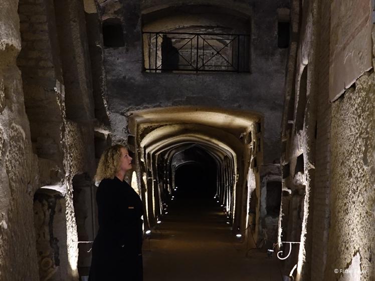 Catacombs of San Gernnaro Naples long hall