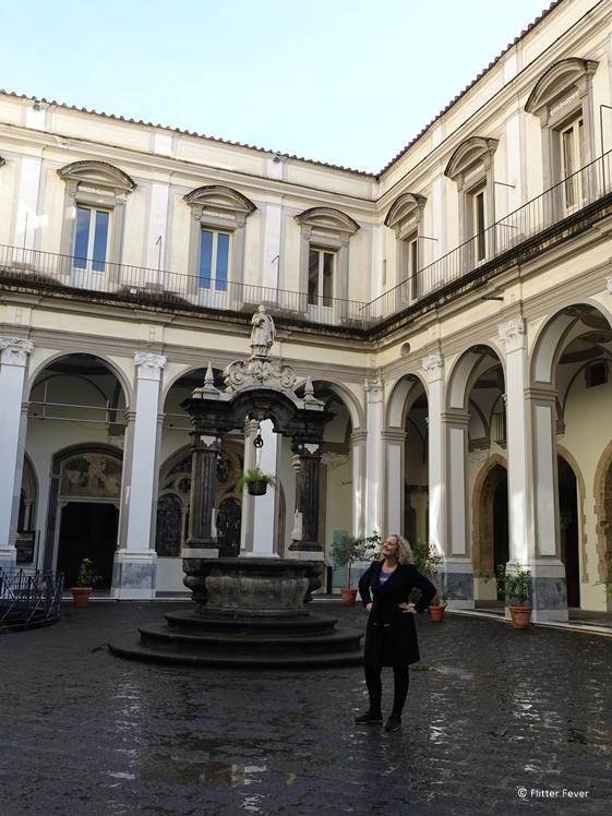 San Lorenzo Maggiore Naples courtyard