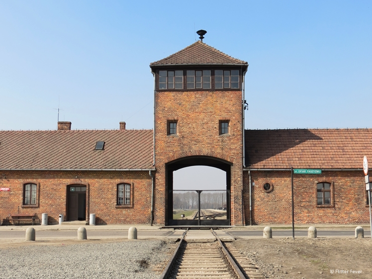 Entrance of Auschwitz concentration camp II