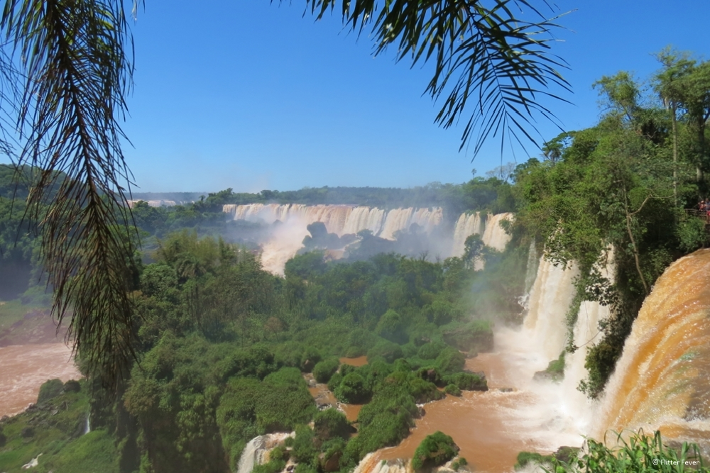 Iguazu Falls on the borders of Brazil and Argentina