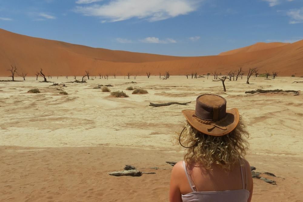 Admiring the sand dunes of Sossusvlei, Namibia
