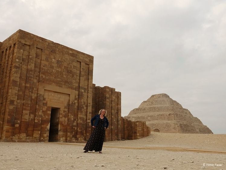 In front of the entrance of the Pyramid of Djoser Saqqara
