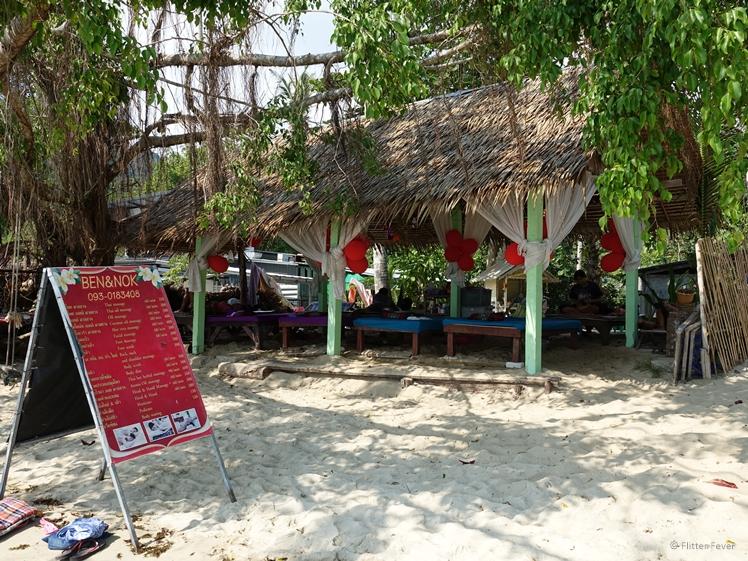 Massage at sea Ben & Nok Bang Bao Beach Koh Chang