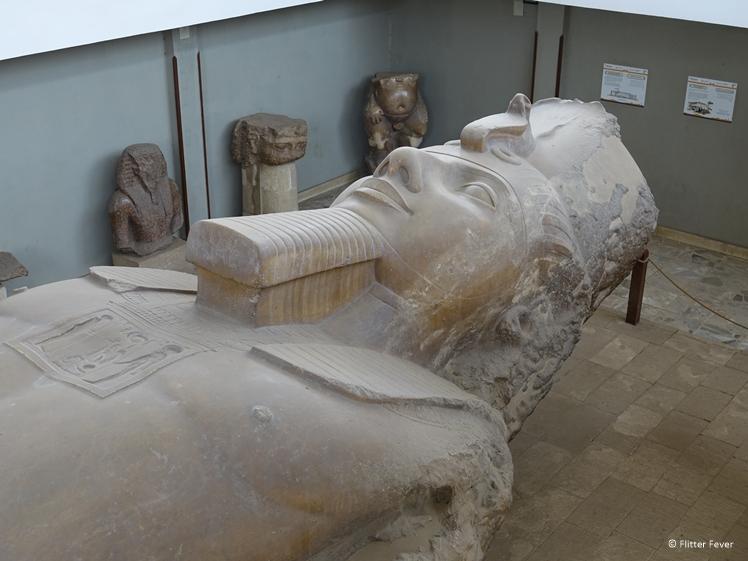 Ramses II statue in Memphis near Cairo