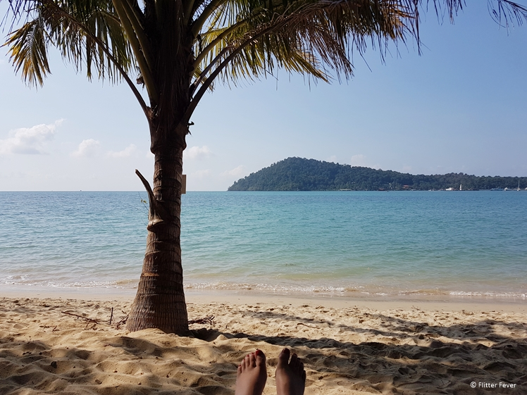 Lying on thne beach all day is very tempting on Koh Chang