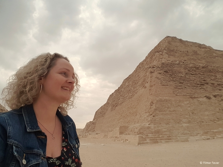 Selfie with the Pyramid of Djoser up close Egypt
