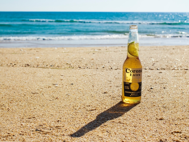 Better get a Corona beer on holiday than the virus (photo credits Jake Bradley)