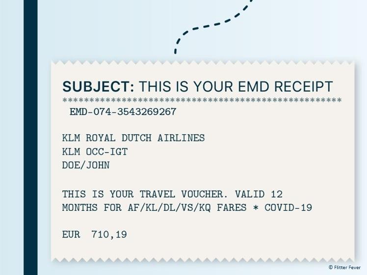 KLM travel voucher