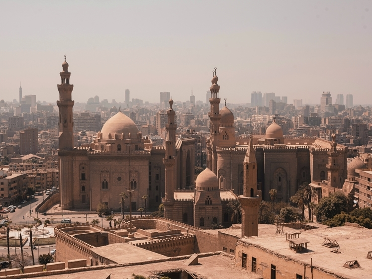 View on Sultan Hassan Mosque and Al Rifai Mosque in Cairo (photo credits Omar El Sharawy)