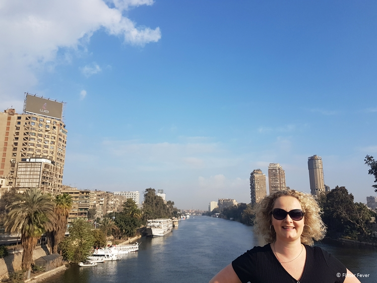 Walk over the Nile in Cairo on a sunny morning
