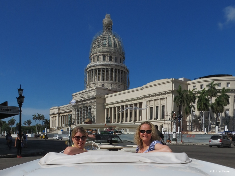 With travel buddy Melissa in Havana, Cuba
