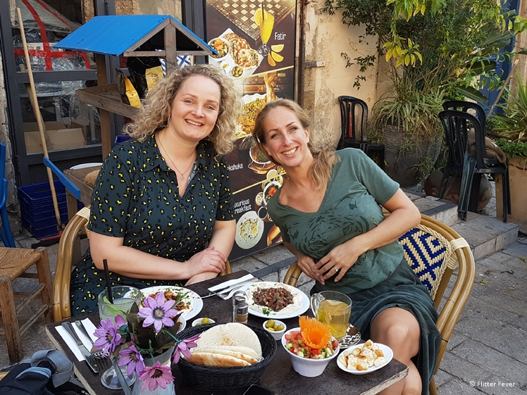 With travel buddy Mirjam in Tel Aviv