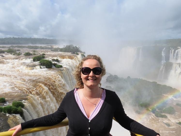 Iguazu Falls double rainbow me