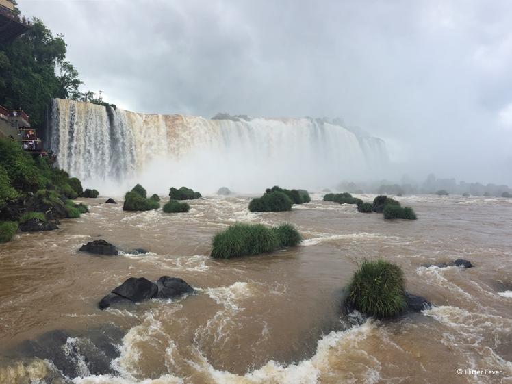 Iguazu Falls Brazil front view