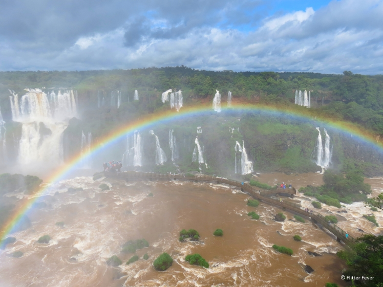 Rainbow above Iguazu Falls Brazil