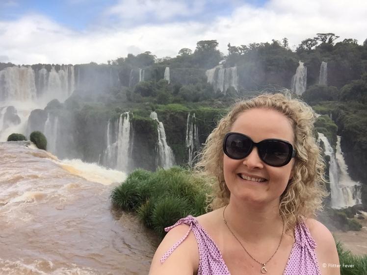 Iguazu Falls Brazilian side selfie