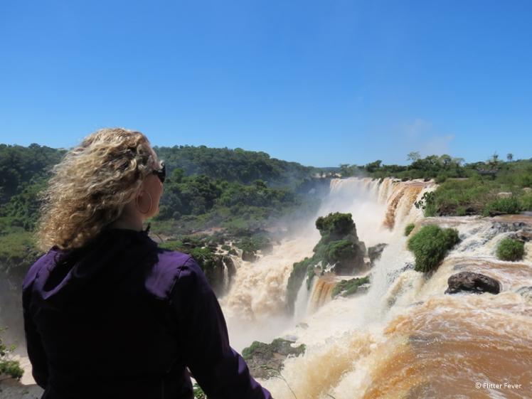 Watching the Iguazu Falls Argentina Upper Trail